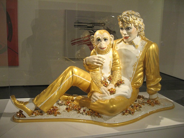Michael Jackson and Bubbles (1988) by Jeff Koons.